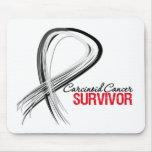 Superviviente carcinoide del cáncer de la cinta de alfombrillas de ratón