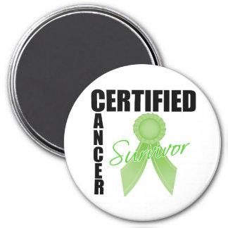 Superviviente certificado del cáncer - linfoma imán para frigorífico