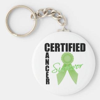 Superviviente certificado del cáncer - linfoma Non Llavero Redondo Tipo Pin