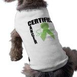 Superviviente certificado del cáncer - linfoma camiseta de perro