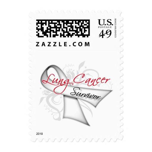 Superviviente - cinta del cáncer de pulmón sello