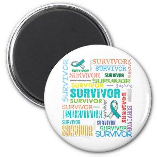 Superviviente Collage.png del cáncer de cuello del Imán Redondo 5 Cm