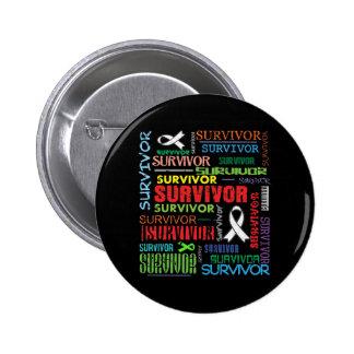 Superviviente Collage.png del cáncer de hueso Pin