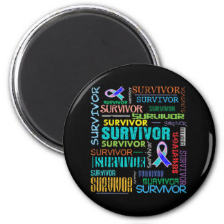 Superviviente Collage.png del cáncer de tiroides Imán Redondo 5 Cm