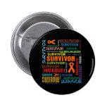 Superviviente Collage.png del cáncer del riñón Pins