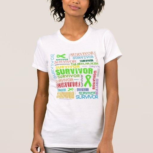 Superviviente Collage.png del linfoma de Camiseta