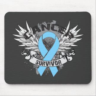 Superviviente con alas Grunge del cáncer de prósta Alfombrilla De Raton