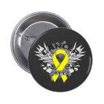 Superviviente con alas Grunge del cáncer de vejiga Pin