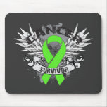 Superviviente con alas Grunge del linfoma de la ci Alfombrillas De Ratones