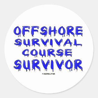 Superviviente costero del curso, pegatina del