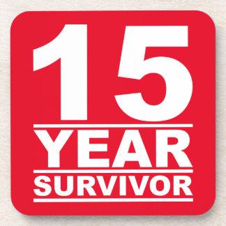 superviviente de 15 años posavasos