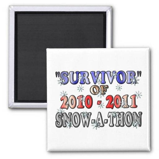 Superviviente de 2010-2011Snow-A-Thon Iman Para Frigorífico