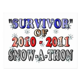 Superviviente de 2010-2011Snow-A-Thon Postal