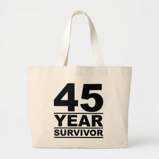superviviente de 45 años bolsa tela grande