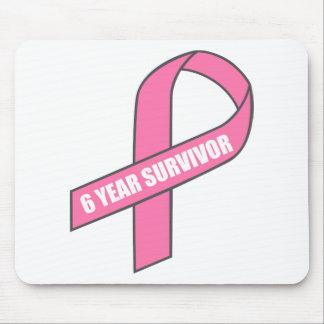 Superviviente de 6 años cinta del rosa del cáncer tapete de ratón