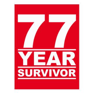 superviviente de 77 años postal