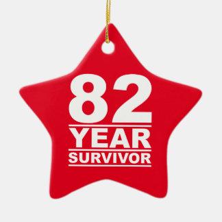 superviviente de 82 años adorno navideño de cerámica en forma de estrella