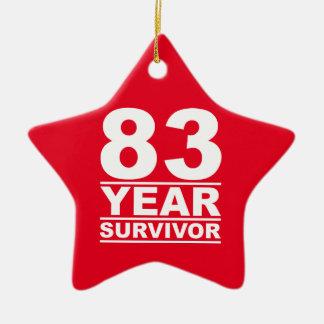 superviviente de 83 años adorno navideño de cerámica en forma de estrella