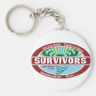 Superviviente de Joplin Llavero Redondo Tipo Pin