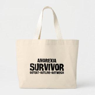 Superviviente de la anorexia bolsa tela grande