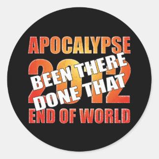 Superviviente de la apocalipsis pegatina redonda
