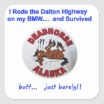 Superviviente de la carretera de BMW Dalton Calcomanía Cuadradas Personalizadas
