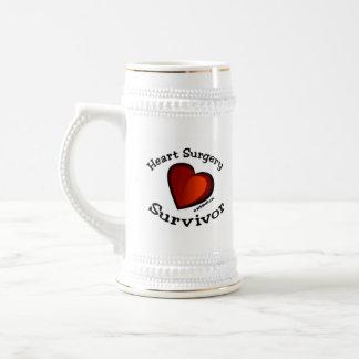 Superviviente de la cirugía de corazón jarra de cerveza