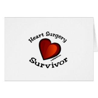 Superviviente de la cirugía de corazón tarjeta de felicitación