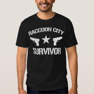 superviviente de la ciudad del mapache poleras
