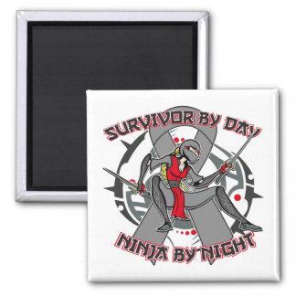 Superviviente de la diabetes por el día Ninja por  Imán De Frigorífico