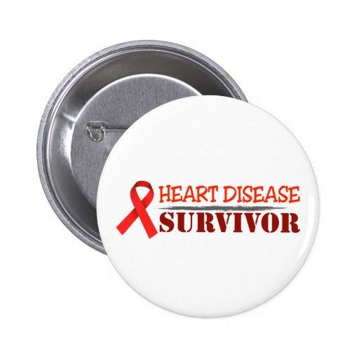 Superviviente de la enfermedad cardíaca pin
