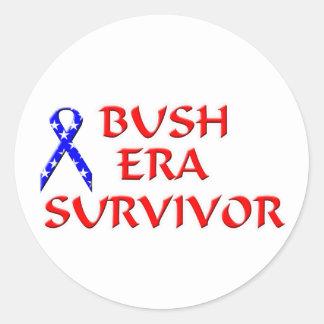 Superviviente de la era de Bush Pegatina Redonda