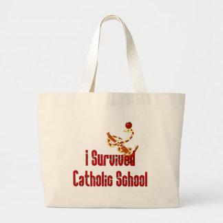 Superviviente de la escuela católica bolsas de mano