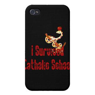 Superviviente de la escuela católica iPhone 4 carcasa