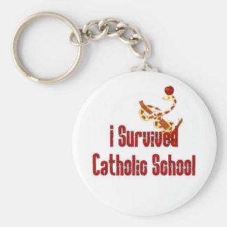 Superviviente de la escuela católica llaveros personalizados