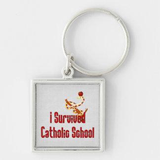 Superviviente de la escuela católica llaveros