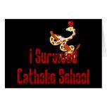 Superviviente de la escuela católica tarjeton