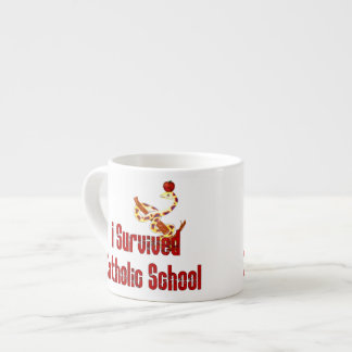 Superviviente de la escuela católica taza espresso