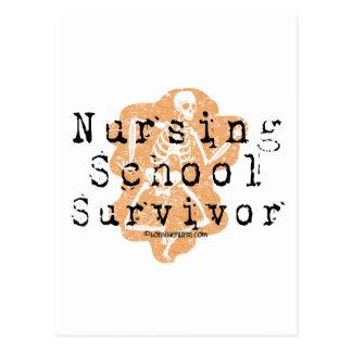 Superviviente de la escuela de enfermería postales