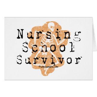 Superviviente de la escuela de enfermería tarjeta de felicitación