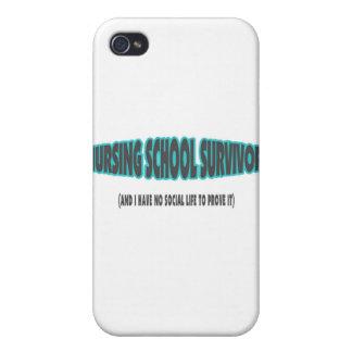 Superviviente de la escuela de enfermería y yo no iPhone 4 protector