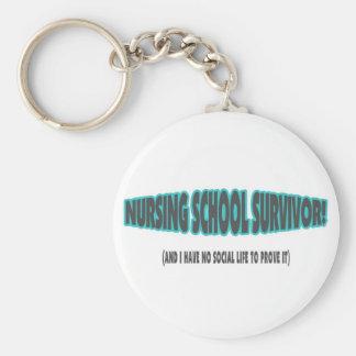 Superviviente de la escuela de enfermería (y yo no llavero personalizado