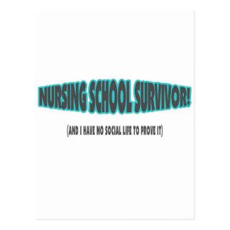 Superviviente de la escuela de enfermería (y yo no tarjetas postales