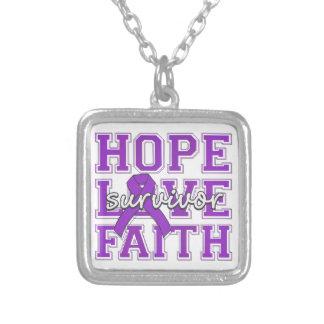 Superviviente de la fe del amor de la esperanza de grimpolas personalizadas