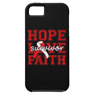 Superviviente de la fe del amor de la esperanza de iPhone 5 cárcasa