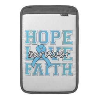 Superviviente de la fe del amor de la esperanza de fundas macbook air