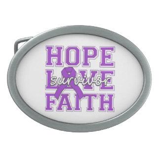 Superviviente de la fe del amor de la esperanza de hebilla de cinturón