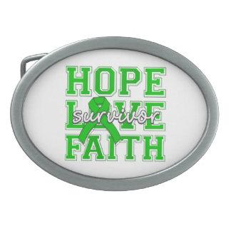 Superviviente de la fe del amor de la esperanza de hebillas de cinturón
