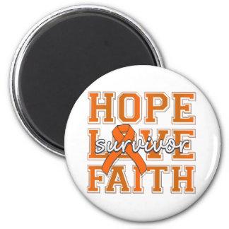 Superviviente de la fe del amor de la esperanza de imán para frigorifico