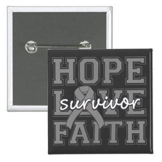 Superviviente de la fe del amor de la esperanza de pin